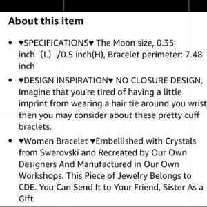 Swarovski Jewelry - Swarovski silver moon sun cuff bracelet